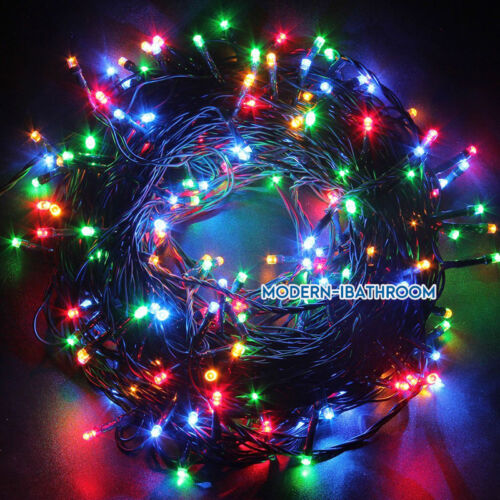 Electric Mains 20M//30M//50M LED Party Garden Xmas Fairy Lights String Green Cable