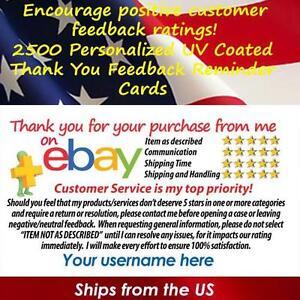 2500 uv gloss ebay seller custom 5 star dsr reminder thank you image is loading 2500 uv gloss ebay seller custom 5 star reheart Gallery