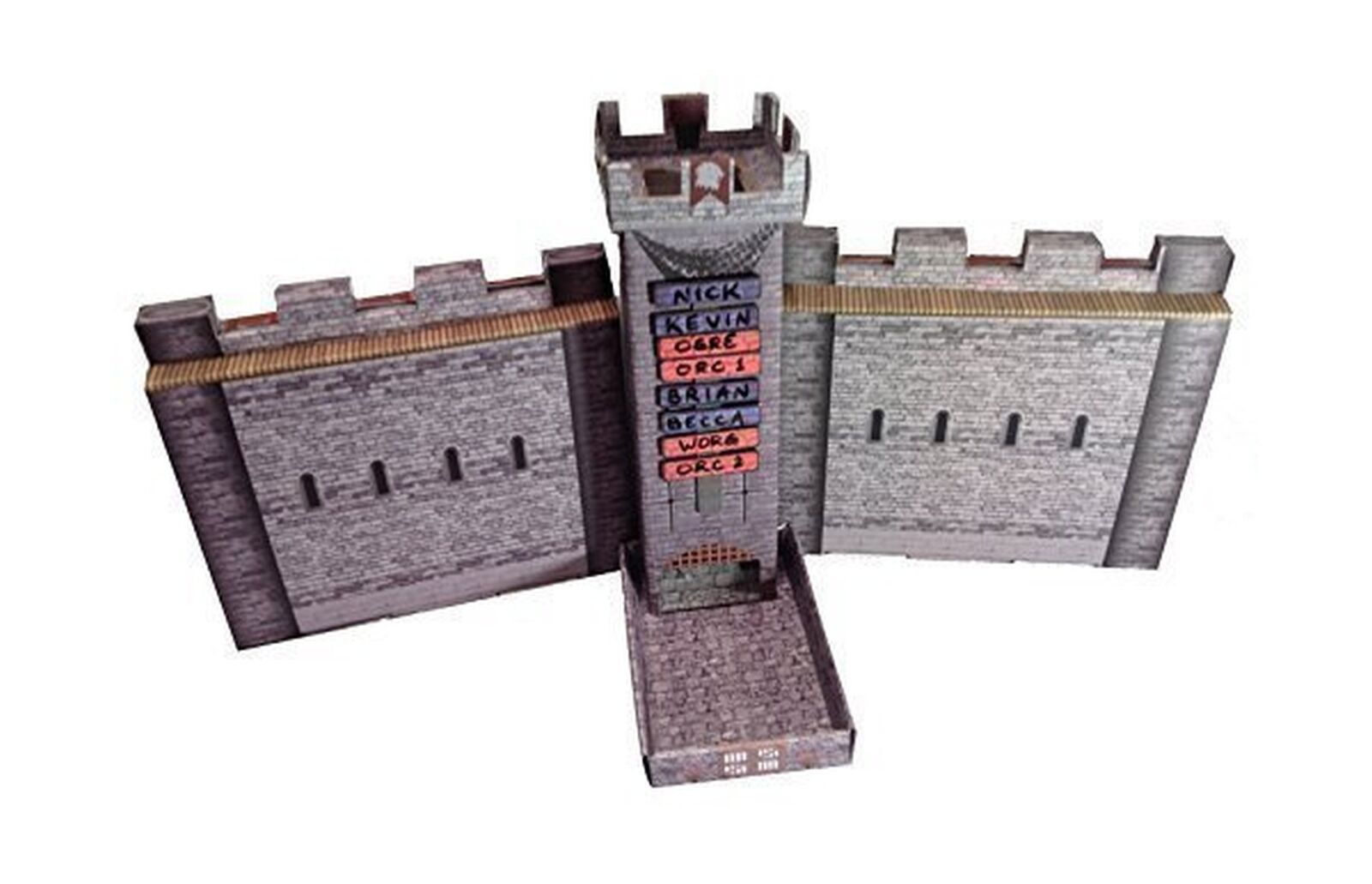 Castle Keep Dice Tower, 2 Castle Wall DM Screens