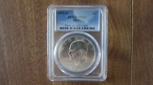 1971-S $1 Eisenhower PCGS MS65 $1 Silver - 50th Anniversary