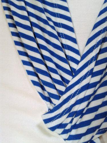 Shirt Bolero Damen Jacke 40 L Weiß Shell 2 Gestreift Sea Blau teiler Kurzjacke 0SwqgafxR