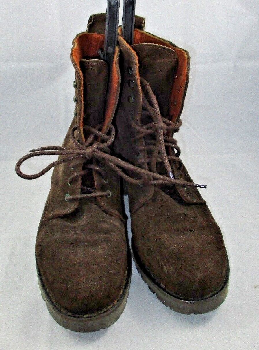 ANDRE ASSOUS Spain Brown SUEDE ANKLE Boots Size 9-1 2 Med Lace-Up Gently Owned