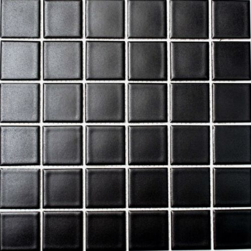 Mosaik schwarz matt Schwimmbad Pool Bad Küche WC 16B-0311/_f10 Matten