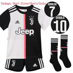 quality design 9a113 4c335 Details about 19/20 Juventus Ronaldo Soccer Suits Football Kits Jerseys  Shorts Socks For Kids