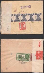 INDIA-1941-Censored-Covers-5-KGVI-New-York