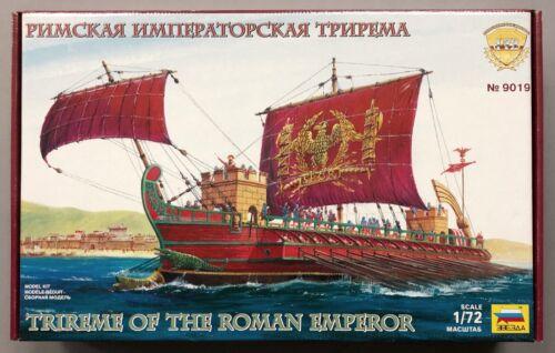 V-0-0000 Zvezda 9019 Trireme of the Roman Emperor Schiff Figuren Modellbau 1//72