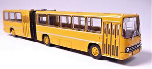 H0-BREKINA-Ikarus-280-03-Gelenkbus-Uberlandbus-maisgelb-2-Einstiegtueren-59750