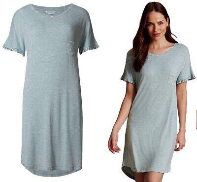 Ladies Womens M/&S Nightdress Nightie Nightshirt Pyjamas Size 12 Leaf Print