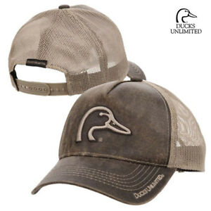 Ducks Unlimited Canvas Mesh Back Cap Brown 885792528389 Ebay
