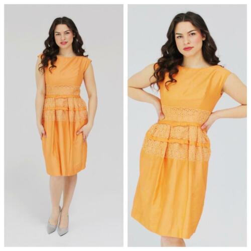 1950s SUZY PERETTE Peach Dress- Hourglass, Bombshe