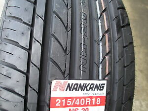2 new 215 40r18 inch nankang ns 20 tires 215 40 18 r18 2154018 40r ebay. Black Bedroom Furniture Sets. Home Design Ideas