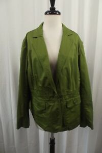72dfc49f7302f Talbots Women s Blazer Jacket Plus Size 14W Coat Green Button Down ...