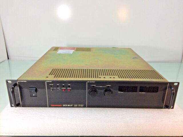 Sorensen DCS 80-37 0-80v 0-37a 3kw Power Supply 80 Volts 37 Amp