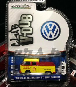 Greenlight-Shell-Oil-1976-Volkswagen-T2-Double-Cab-Pick-Up-Limited-Edition