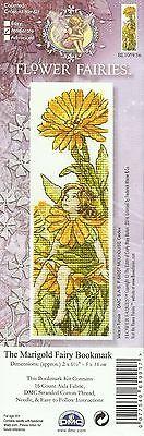DMC FLOWER FAIRIES MARIGOLD FAIRY BOOKMARK COUNTED CROSS STITCH KIT -NEW 04/2014