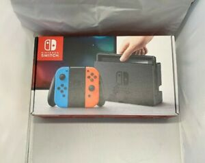 Nintendo-Switch-32GB-Gray-Console-with-Neon-Red-and-Neon-Blue-Joy-Cons