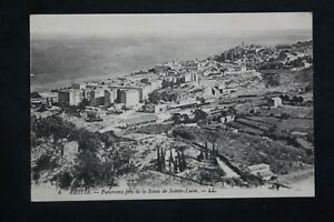 Postcard-Antique-Etching-Panorama-Taken-Of-La-Route-Holy-Lucie