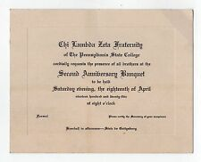 1925 PENN STATE Chi Lambda Zeta Ticket STATE COLLEGE University PENNSYLVANIA PA