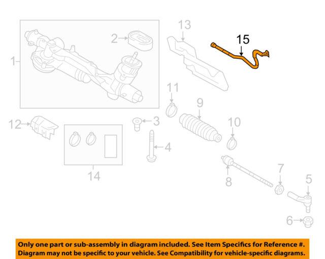 14-18 VW Golf Mk7 GTI Steering Rack Gear Motor Wiring Harness Loom on
