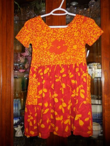 Jams World  RARE Girls M FlowerShower Redleaf Hattie Hawaiian Dress NEW NWT