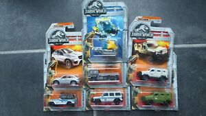 Matchbox-Diecast-1-64-Jurassic-World-7-vehicles-new-in-box