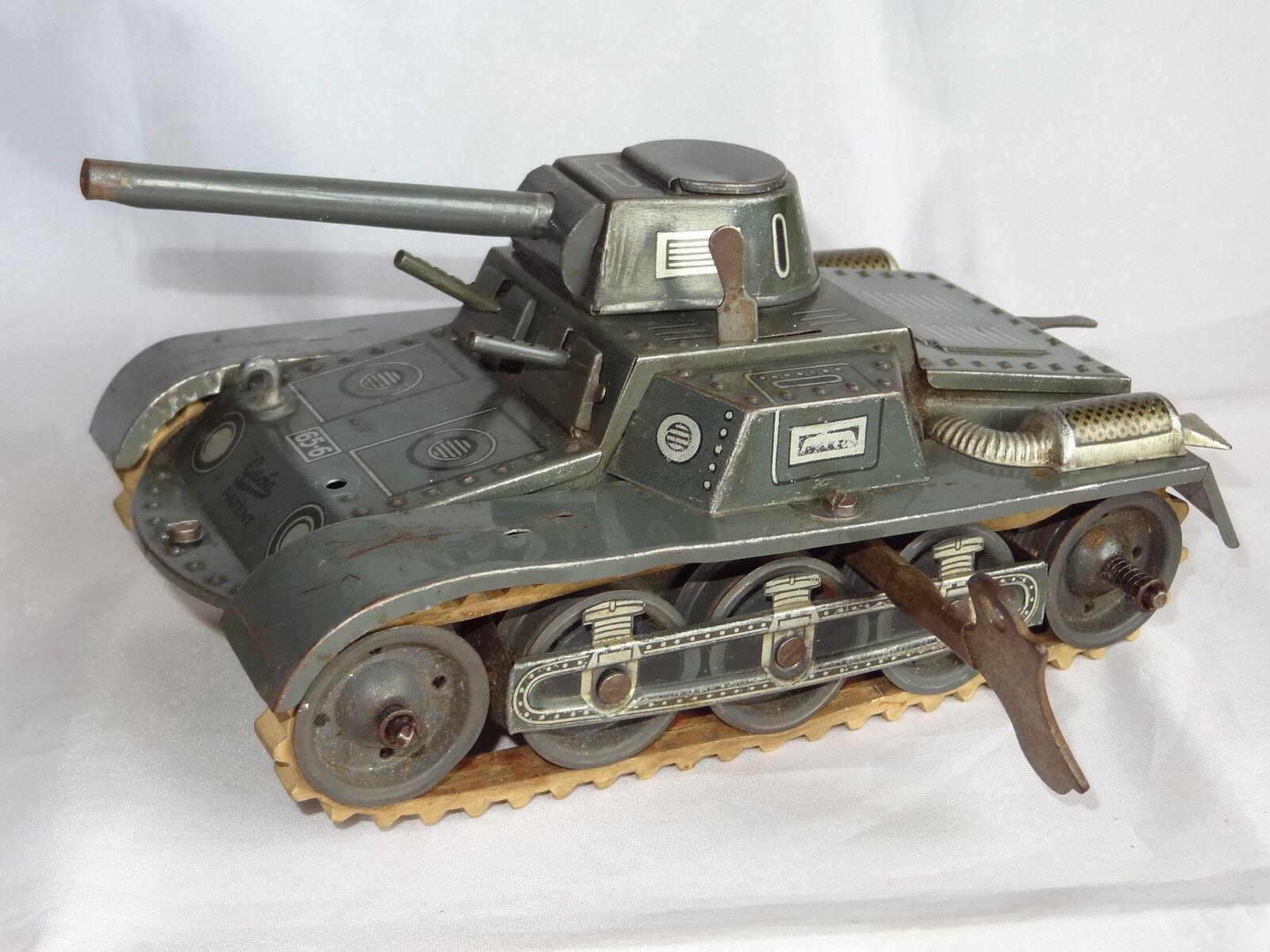 Gescha West Germany Panzer tanque Hojalata Cuerda C1'S