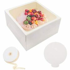 10 Pcs Cake Box Bakery Boxes Window Boards Cookie For Gift Giving12x12x6 Ampamp