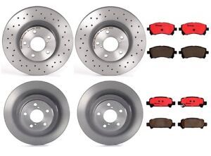 Front Kit Drill And Slot Brake Rotors /& Ceramic Pads For Baja Legacy Outback