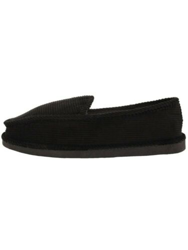Bright Women/'s Corduroy Black House Slippers Shoes Moccasin Slip-on