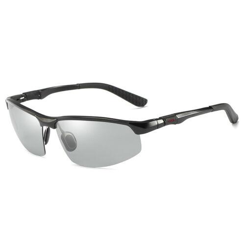 Men/'s Polarized Photochromic Driving Sunglasses Chameleon Sports Outdoor Eyewear
