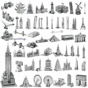 3d metal model puzzle diy building laser cut assembly for Architectural decoration crossword clue