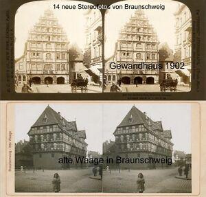 Um 1880-1900 Kraftvoll 14 Stereofotos Von Braunschweig Usw Photographica Technik & Photographica