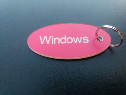 X 10 hotel keyfobs B/&B door numbers locker laminate discs keyrings key tags..