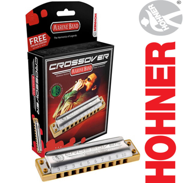 HOHNER M2009 CROSSOVER MARINE BAND HARMONICA KEY OF C MADE IN GERMANY NEW