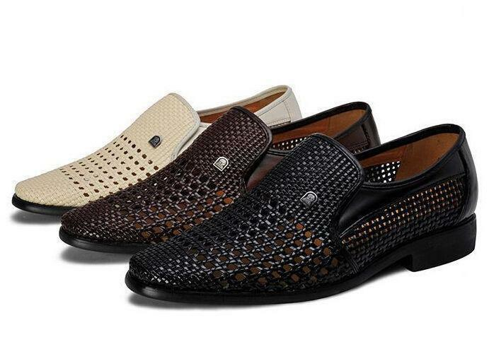 Summer Hot Mens Mesh Loafer Casual Slip On Woven Sandals Hollow Out Dress shoes