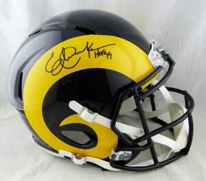 Eric-Dickerson-Signed-Rams-F-S-Color-Rush-Speed-Helmet-w-HOF-Beckett-Auth-Blk