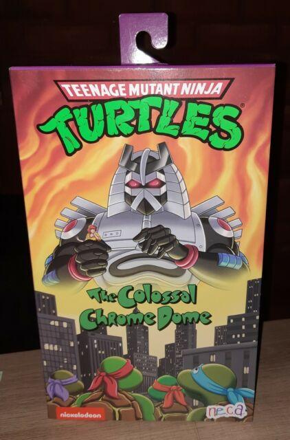 IN HAND NECA Teenage Mutant Ninja Turtles TMNT Colossal Chrome Dome New Sealed