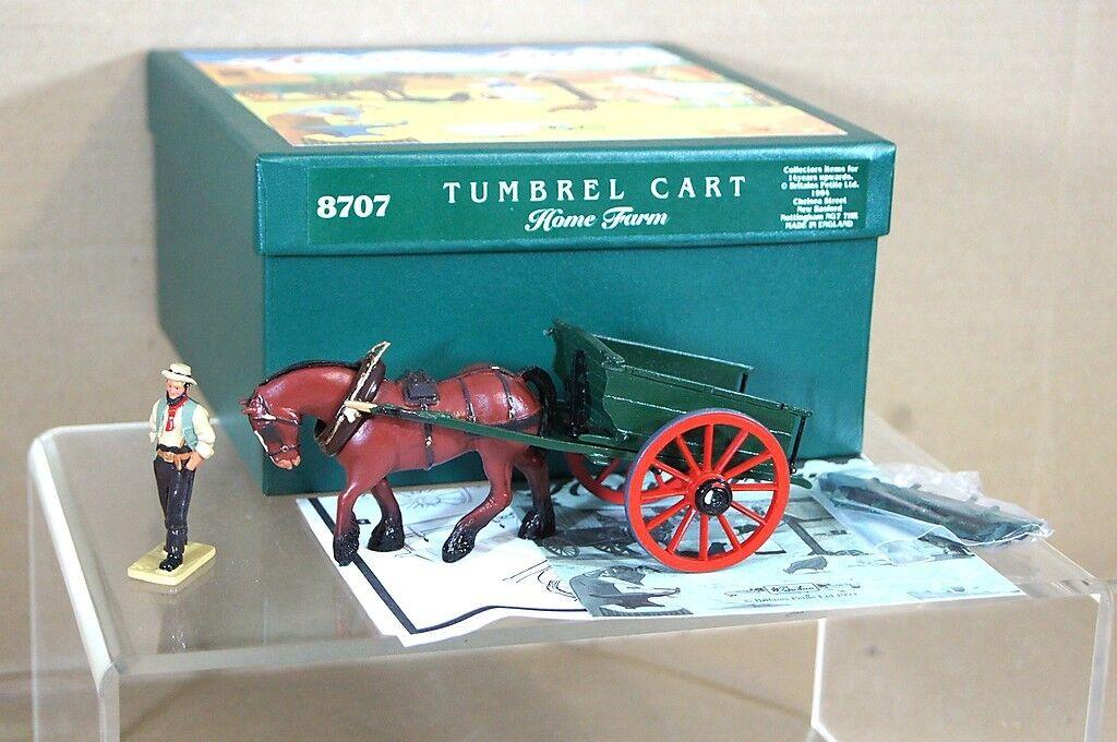 BRITAINS 8707 HOME FARM TUMBREL CART & HORSE SET MINT BOXED ow