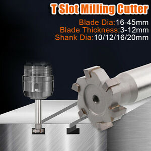 T-Slot Cutter Tool Drill Head Engraving Milling Diameter End Mill Part