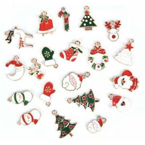 20-PCs-Metal-Alloy-Mixed-Charms-Christmas-Pendant-For-DIY-Craft-Jewelry-Making