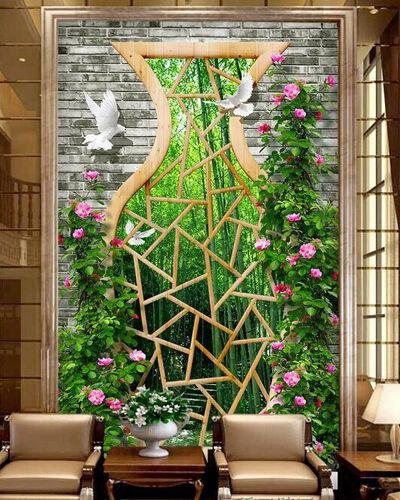 3D Flower Bird 4318 Paper Wall Print Decal Wall Wall Murals AJ WALLPAPER GB