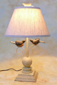 Tischlampe Landhausstil Lampe Tischleuchte Leuchte Sau /& Huhn Cottage Dekolampe