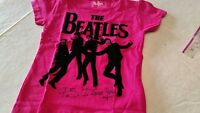 Girls Size 18 Month 2t,3t,4t,5t Pink Short Sleeve Shirt The Beatles