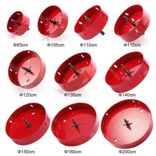 Bi metal Hole Saw 850mm-200mm Arbor Pilot Hole Saw Drill Bit Metal Wood Plastic