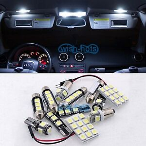 pure white interior car led light bulbs kit for land rover discovery 3 ebay. Black Bedroom Furniture Sets. Home Design Ideas