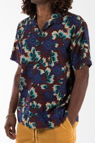 2018 NWT MENS KATIN JUNGLE SHIRT $64 Walnut 100/% cotton all over print