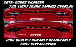 2015 2016 2017 Dodge Charger Tail Light Dark Smoke Overlay