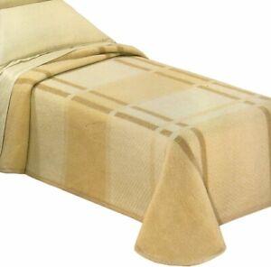 Coperta-matrimoniale-2-piazze-invernale-in-lana-Cortina-beige