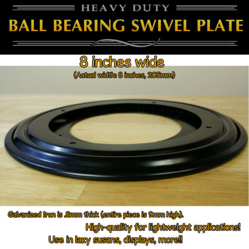 8 inch Full Ball Bearing Swivel Plate Lazy Susan Turntable 205mm 1 pc