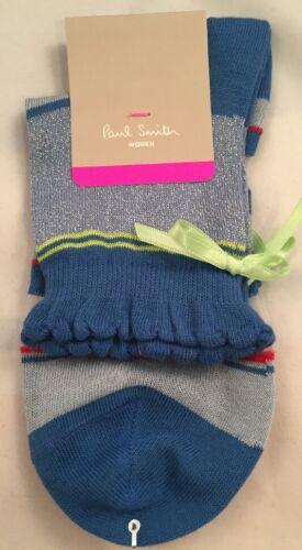 Paul Smith Women Sock Made In Italy Multi Tie Blue